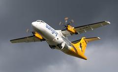 G-HUET ATR 42-500, Aurigny, Bristol Lulsgate, Somerset (Kev Slade Too) Tags: bristol somerset atr42 aurigny lulsgate eggd runway27 gr645 ghuet ayline45d