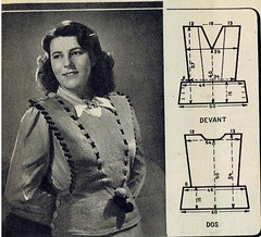 2015-10-14 1947 pattern (2) (april-mo) Tags: wool sweater pattern clothes pullover 1947 vintagemagazine vintagepattern the1940s vintagefrenchmagazine pulloverpattern
