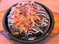 Okonomiyaki (knightbefore_99) Tags: food fish art japan vancouver japanese rice wheat egg tasty pancake flour flakes savoury commercialdrive eastvan kishimoto