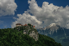 Castle in the sky (Dash-K) Tags: travel cliff mountains castle clouds slovenia