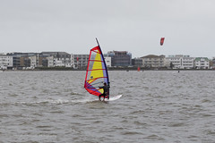 Windsurfers in Poole Harbour (clive_metcalfe) Tags: uk water dorset poole windsurfers pooleharbour