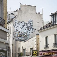 Zoo Project - Invader (Ruepestre) Tags: streetart paris france graffiti graffitis zooproject