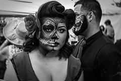 DOD-06983 (m.r. nelson) Tags: arizona bw usa southwest monochrome portraits dayofthedead blackwhite az artphotography mrnelson marknelson markinaz diadelosmuertosphoenix díadelosmuertosfestivalphx2015