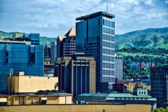 Downtown Salt Lake City, Utah, U.S.A. (Lago Tanganyika) Tags: city urban usa mountains building architecture skyscraper utah cosmopolitan downtown cityscape realestate financialdistrict saltlakecity highrise metropolis ur officetower citycenter metropolitan density centralbusinessdistrict commercialoffice jorgemolina nikond3300 northamericanskyline