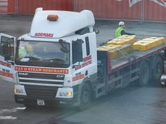 Lumps of hay (stevenbrandist) Tags: liverpool truck straw hay daf normanshaulagecontractors fe02hrz