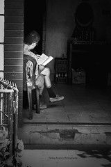 Steve Jobs in India !! (pankaj.anand) Tags: blackandwhite bw coffee shop photography reading book bangalore readingbook udupi bookbook mangalore pankaj 2014 readingreading photographyindian shotcoffee pankajanand pankajanand18 pankajanandphotography shopindian