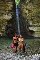 Amiche di Majellando alla Cascata di Cusano - Majella - Abruzzo - Italy