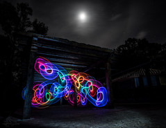 Light painting practice (AeroFluxe) Tags: light color night paint creative led practice effect sal20f28