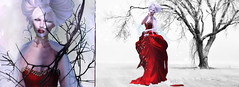 Hypothermic Wonderland . (Venus Germanotta) Tags: secondlife fashion winter holidays xmas magazine spread gown christmas colors negativespace landscape snow edit photoshop style elegant aesthetic chilly cold icy nature frost blog blogger