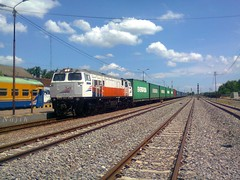KA 1535f berjalan langsung Bojonegoro (Najih 99s) Tags: kakontainer cc206 train containertrain kabajacoil stasiunbojonegoro