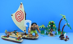 🌊 LEGO 41150 Moana's Ocean Voyage ☀️ (Alex THELEGOFAN) Tags: lego legography minifigures minifigure minifig minifigs minifigurine minifigurines movie moana vaiana ocean travel 41150 voyage boat island sun statue palm tree disney kakamora chicken maui attack raft sail pineapple wood big tall great friends