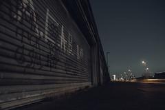 Dockside garage (lg-photographic) Tags: outdoor drausen dark dunkel night nacht dockside garage hafengarage kai harbor hafen edited bearbeitet bremen deutschland de light lights licht lichter old alt lost verlassen places long exposure langzeitbelichtung nikon d5200