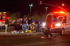 Pedestrian hit i by car in victorville (gabrieldespinoza) Tags: car accident victorville hesperia pedestrian news vvng victorvalleynews