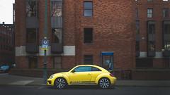 Yellow Bug (David Ramalho) Tags: vw car street brick yellow red beatle
