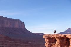 If John Wayne had a selfie stick (mfeingol) Tags: arizona navajo monumentvalley navajotribalpark johnwaynepoint