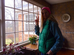 Selfie in my Pink Hat (Room With A View) Tags: maryland house me window selfportrait
