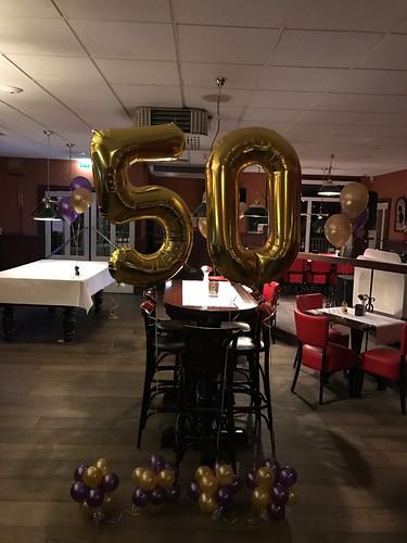 Folieballon Cijfer 50 Goud Citta Romana Hellevoetsluis