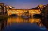 Ponto Vecchio - Florence, Italy (mikederrico69) Tags: travel trip europe bridge water river italia italy florence dusk reflection lake sunset sunrise apartments house landmark sky summer vacation