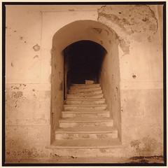 Into darkness (Antonio's darkroom) Tags: hasselblad kodak trix pyrocathd foma 542 se1 sepia moersch carbon thiourea mt2 mt3 mt5 stairs