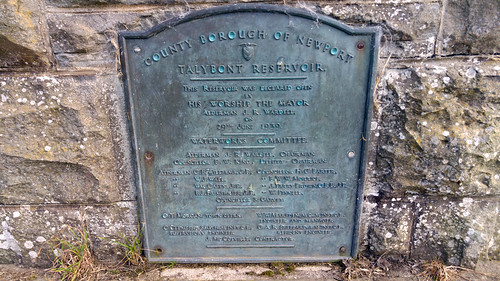 Plaque at Talybont Reservoir