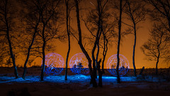 The others (balsaphotographie) Tags: light paint sky tree orb blue night painting d7000