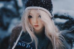 Snowfall I (AzureFantoccini) Tags: bjd doll abjd balljointeddoll supia supiadoll jiin snow snowing snowfall winter portrait