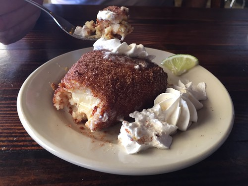 an interesting treat - Deep Fried Key Lime Pie, Islamorada, Florida