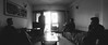 Staring into the light (The Obscura Wizard) Tags: panorama panoramicphotography selfportrait blackandwhite blackandwhitepanorama drawingroom livingroom roompanorama availablelight canon canon500d winter wintermorning indoor windows monochrome illusion opticalillusion trickphotography