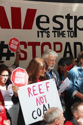 Westpac, Reef not coal - #StopAdani