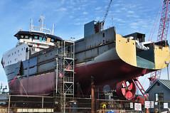 2017-01-28 Factory Trawler America's Finest (01) (2048x1360) (-jon) Tags: anacortes fidalgoisland sanjuanislands skagitcounty skagit washingtonstate salishsea guemeschannel portofanacortes dci dakotacreekindustries drydock boat ship vessel americasfinest fishermansfinest factorytrawler trawler skipstekniskas st116xl build hull construction paint shipyard boatyard a266122photographyproduction pacificocean pacific ocean pacificnorthwest pnw