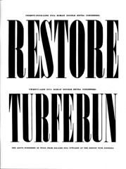 Condensed Modern Serif type specimen (Dunwich Type) Tags: typespecimen font graphicdesign vintage historical