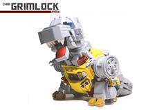 12. Grimlock Album bomb! (Sam.C MOCs (S2 Studios)) Tags: lego transformers optimus prime chibi moc mech robot anime scifi car truck