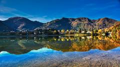 Sole e Ombra (giannipiras555) Tags: autunno collina riflesso idro landscape panorama paesaggio natura nikon alberi