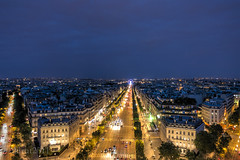 "From the Top of ""Arc de triomphe de l'Étoile"" (akirat2011) Tags: france paris hdr 5xp"