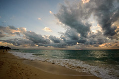 Looking South (nydavid1234) Tags: nikon d600 nydavid1234 sevenmilebeach grandcayman cayman beach caribbean islands sun clouds sky landscape waterscape serene tranquil sand water reflections shadow marine maritime coastal beachscape