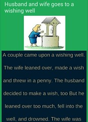 Husband and wife goes to a wishing well - Funny Joke Of The Day (jokesoftheday) Tags: day funny hilariousjokes husband joke latestjokes wife wishing