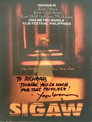 Signed Sigaw (Filmstalker) Tags: mobile photoscan sigaw lara yamlaranas dvd dvdcover