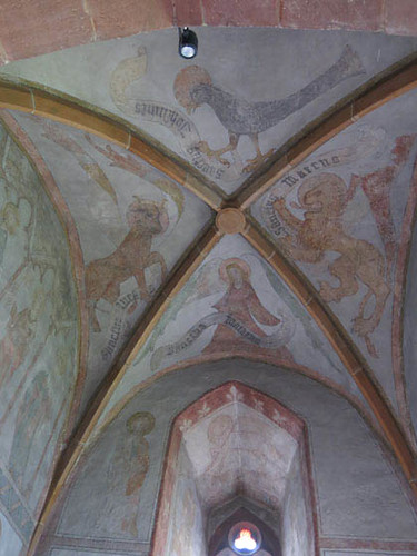 fresque figurant les tetramorphes