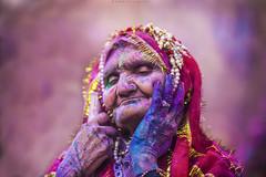 A Soul Of Colors ! (pusan_sm) Tags: portrait colors color woman oldwoman indian holi india 2015 2017