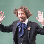 Cédric Villani poses for the press