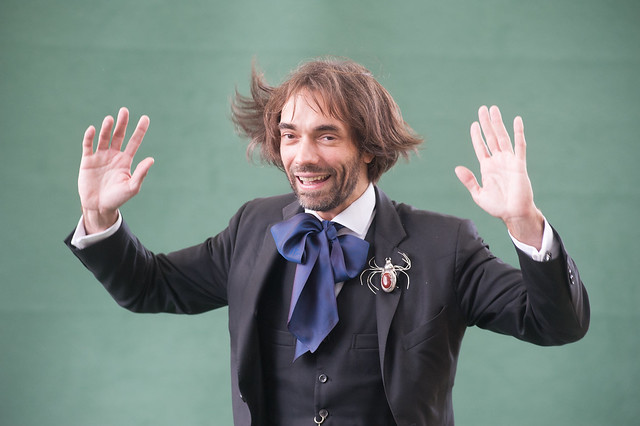Cédric Villani poses for the press