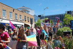 """Busy and noisy LGBT Pride Parade through Plymouth City Centre - Plymouth pride 2015 • <a style=""""font-size:0.8em;"""" href=""""http://www.flickr.com/photos/66700933@N06/20009554983/"""" target=""""_blank"""">View on Flickr</a>"""