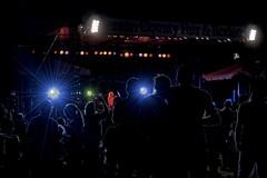 Blue light Silhouette (Kirt Edblom) Tags: county blue white color silhouette rock night oregon lights nikon stage band fair rockroll laser wife corvallisoregon backstage countyfair hdr corvallis classicrock benton kirt foghat bentoncounty gaylene easyhdr fairatnight edblom nikond7100 kirtedblom