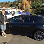 Rodney and Sonja Holdaway from Robert Harris Cafe wanted a sporty promotional car for the cafe. After speaking to Chris McQuade they settled on this smart Toyota Blade Master. Look for a updated photo with it Signwritten up. Thanks Rodney and Sonja.