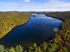 Eighth Lake (Matt Champlin) Tags: life travel camping autumn friends lake fall nature forest woods hiking peaceful adirondacks aerial foliage change aerialphotography campsite adk iloveny drone changeover dji eighthlake dronephotography djiphantom3 fallinadirondacks