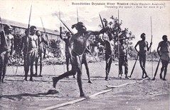 Benedictine Drysdale River Mission, Western Australia - very early 1900s (Aussie~mobs) Tags: aborigine native indigenous spear throwing westernaustralia benedictinedrysdalerivermission aussiemobs