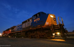 Welcome to Kansas, Pard'ner... (Jeff Carlson_82) Tags: nightphotography railroad night train ks railway kansas bluehour topeka ge railfan bnsf dash8 csx kpl burlingtonnorthernsantafe coaltrain c408w 9013 c409w sd70ace