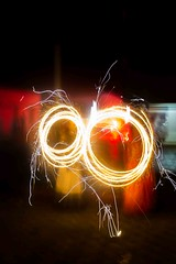 Diwali Fireworks (iskconmonk) Tags: india festival firework diwali festivaloflights slowshutterspeed vrindavan sparkels indiapictures
