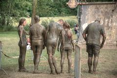 the wait (stevefge) Tags: girls people water netherlands sport mud nederland event viking endurance nederlandvandaag strongviking