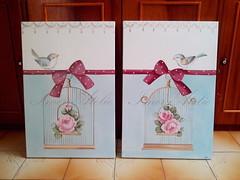IMG_20151117_102655-001 (Imer atelie) Tags: passarinho rosas decoração parede pintura quadros telas renda gaiola laços decoraçãoquarto imeratelie